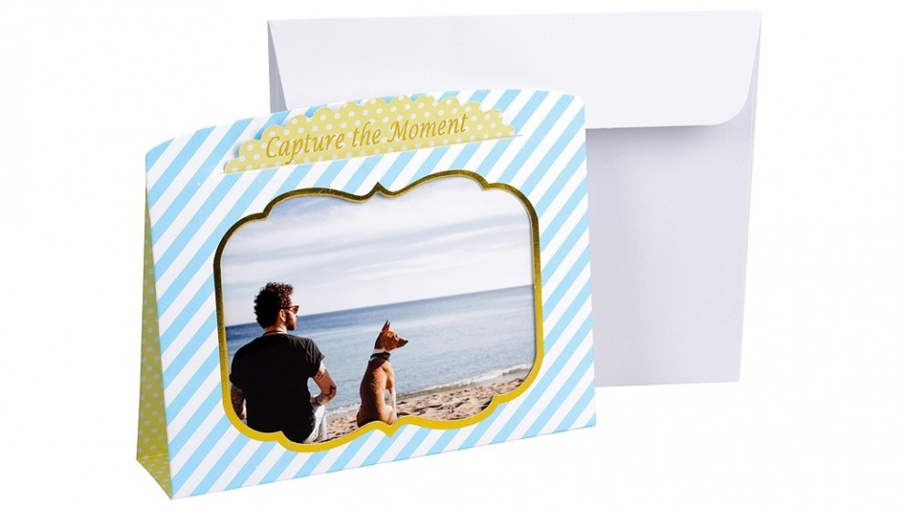 "Instax 6"" x 4"" Photo Frame Card - Blue & Yellow"