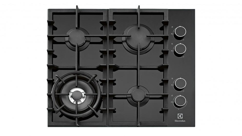 Electrolux 60cm Ceramic Glass Natural Gas Cooktop - Black