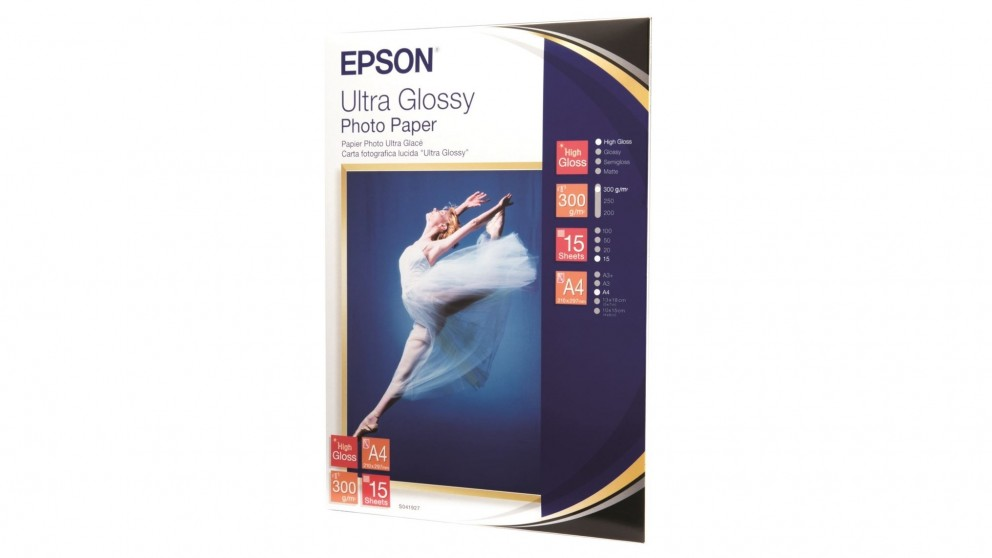 Epson Ultra Glossy A4 Photo Paper - 15 Sheets