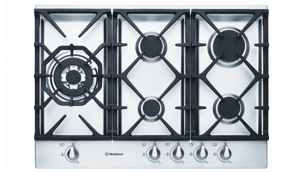 Westinghouse 75cm 5 Burner Gas Cooktop - Stainless Steel