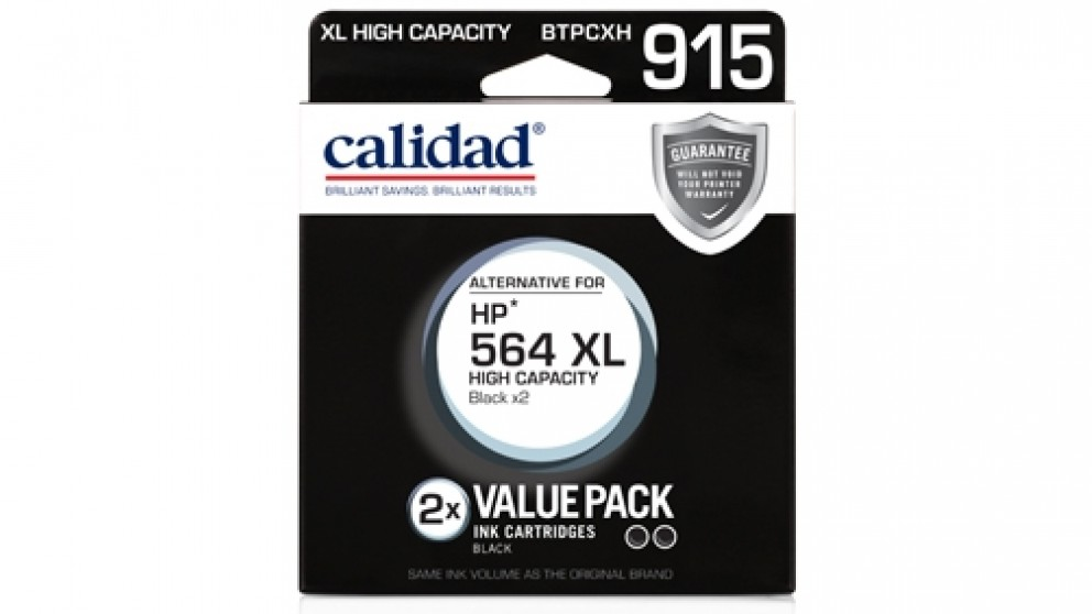 Calidad HP 564 XL Ink Cartridge - Black 2 Pack