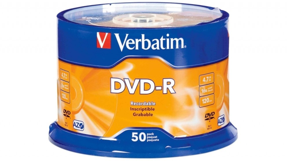 Verbatim DVD-R 4.7GB 16X 50 pack Spindle