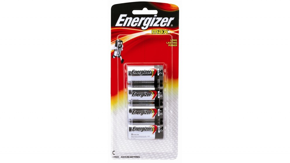 Energizer Max C Alkaline Battery - 4 Pack