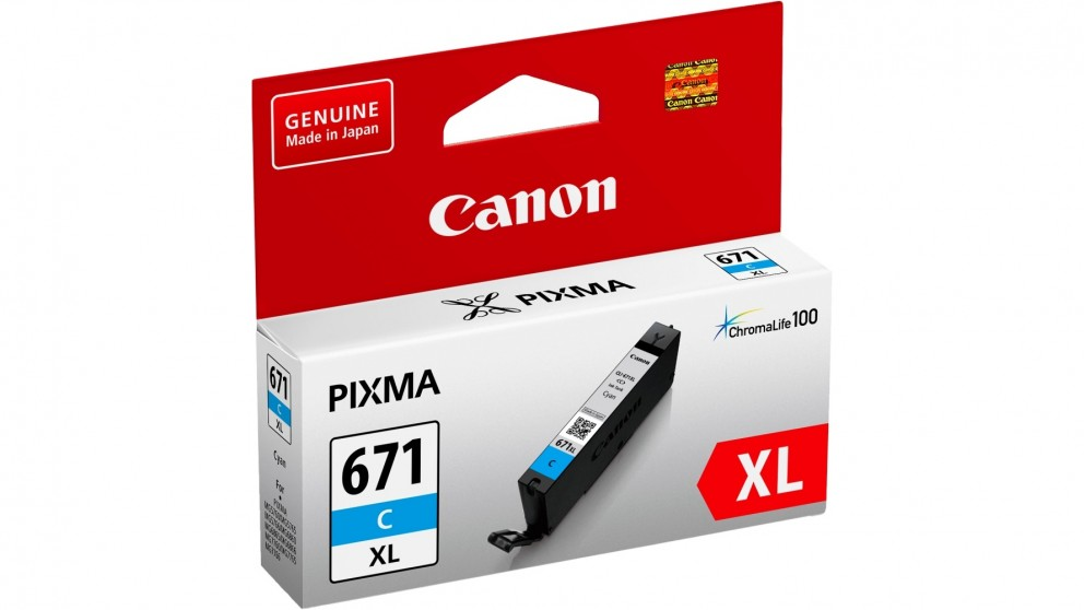 Canon CLI671XLC Extra Large Ink Cartridge - Cyan
