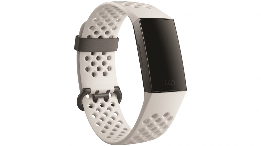 Fitbit Charge 3 Special Edition Fitness Tracker - Frost White  Sport/Graphite Aluminium