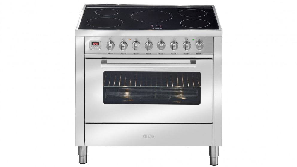 ILVE 90cm Induction Electric Freestanding Cooker - Stainless Steel