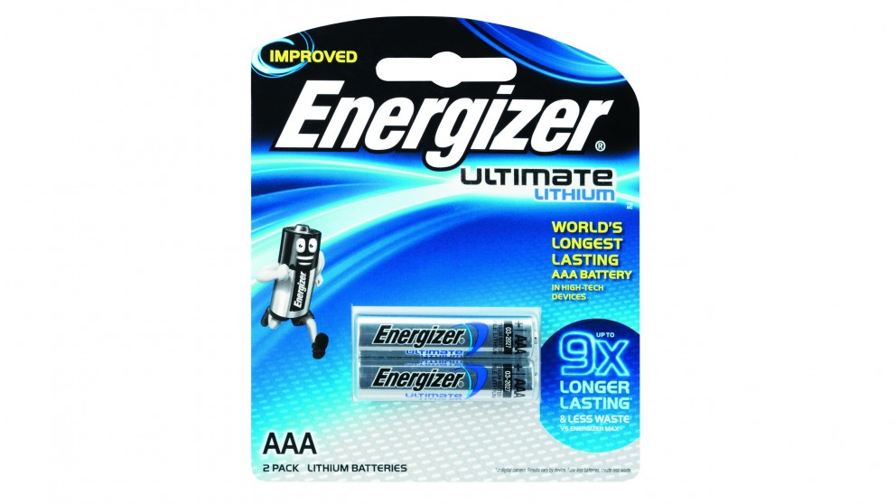 Energizer Ultimate 2 Pack Lithium AAA Batteries