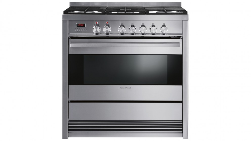 Fisher & Paykel 90cm Pyrolytic Freestanding Dual Fuel Cooker