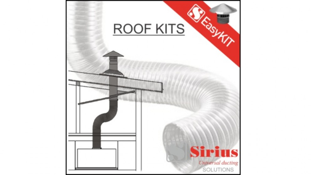 Sirius 150mm Easy Tiled Roof Ducting Kit