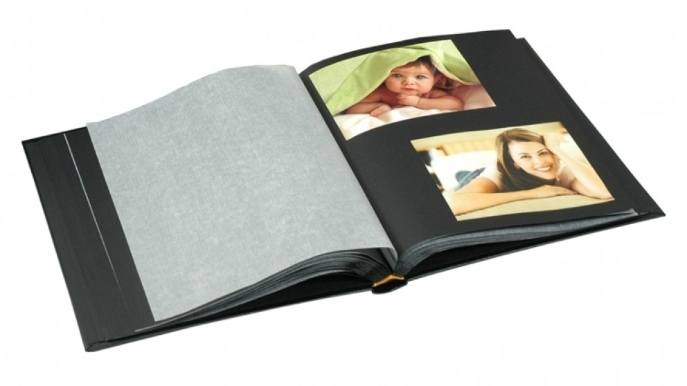 ur1 drymount 60 black page photo album with silver stamping black
