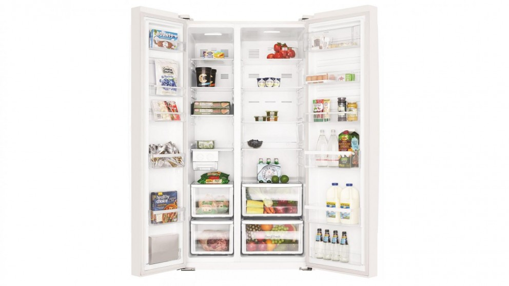 Westinghouse 620L Side by Side Fridge - White