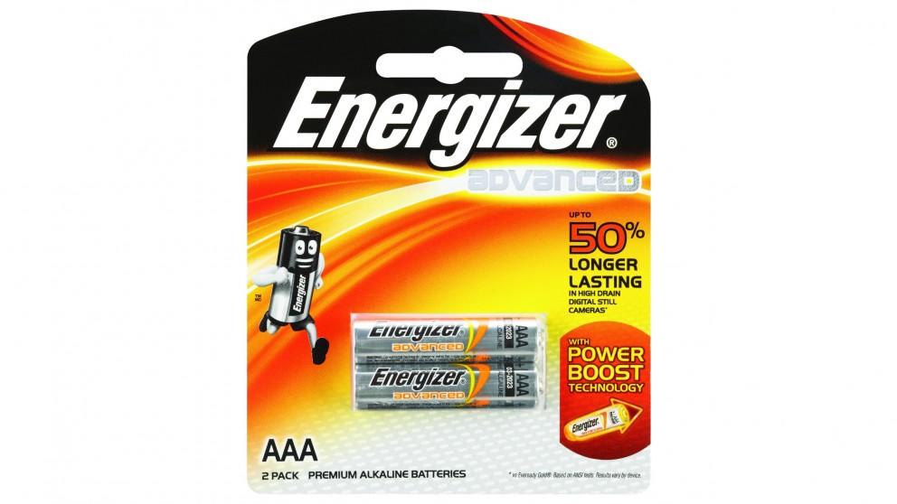 Energizer Advanced AAA Batteries - 2 Pack