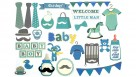 Instax Scrapbook Card Cut-Outs - Baby Boy