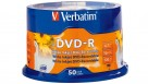 Verbatim DVD-R 4.78GB White Inkjet - 50 Pack