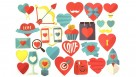 Instax Scrapbook Card Cut-Outs - Hearts
