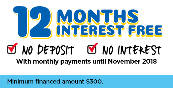 12 Months Interest Free - With Monthly Payments