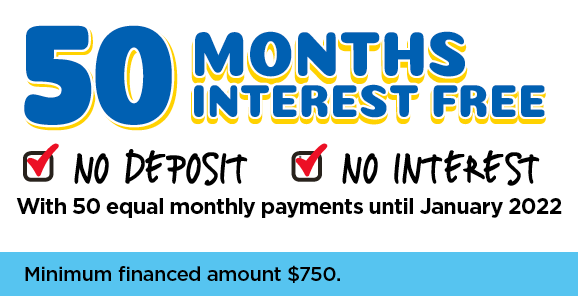 50 Months Interest Free - Equal Payments